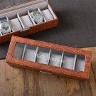 Brown Crocodile Watch Box