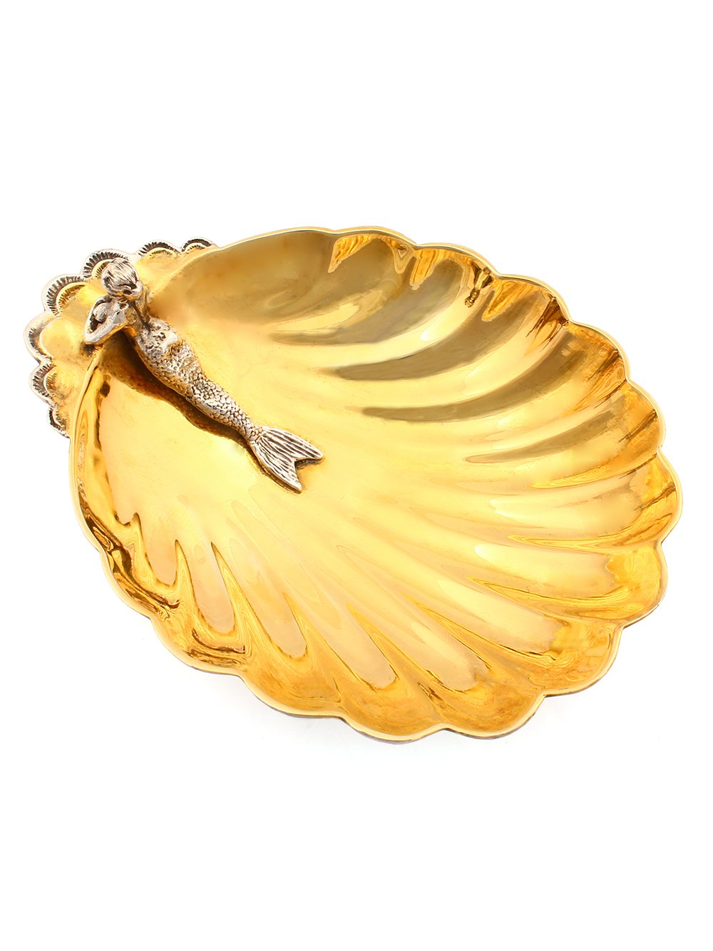 "Silver caviar plate ""Mermaid"" 1115"