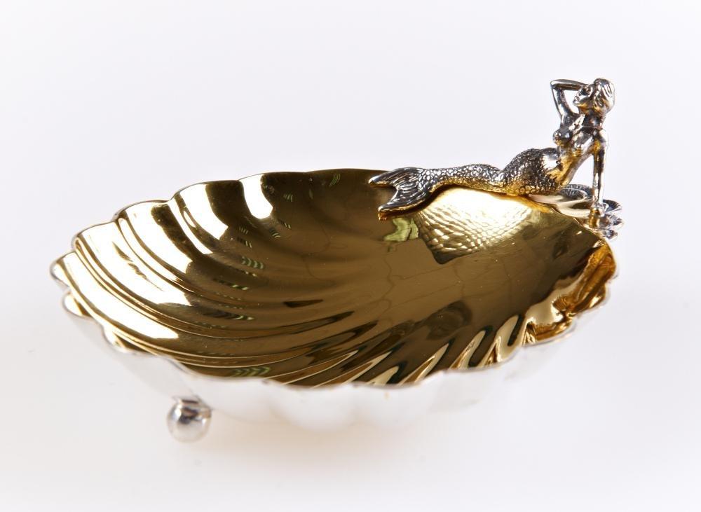 "Silver caviar plate ""Mermaid"" 1137"