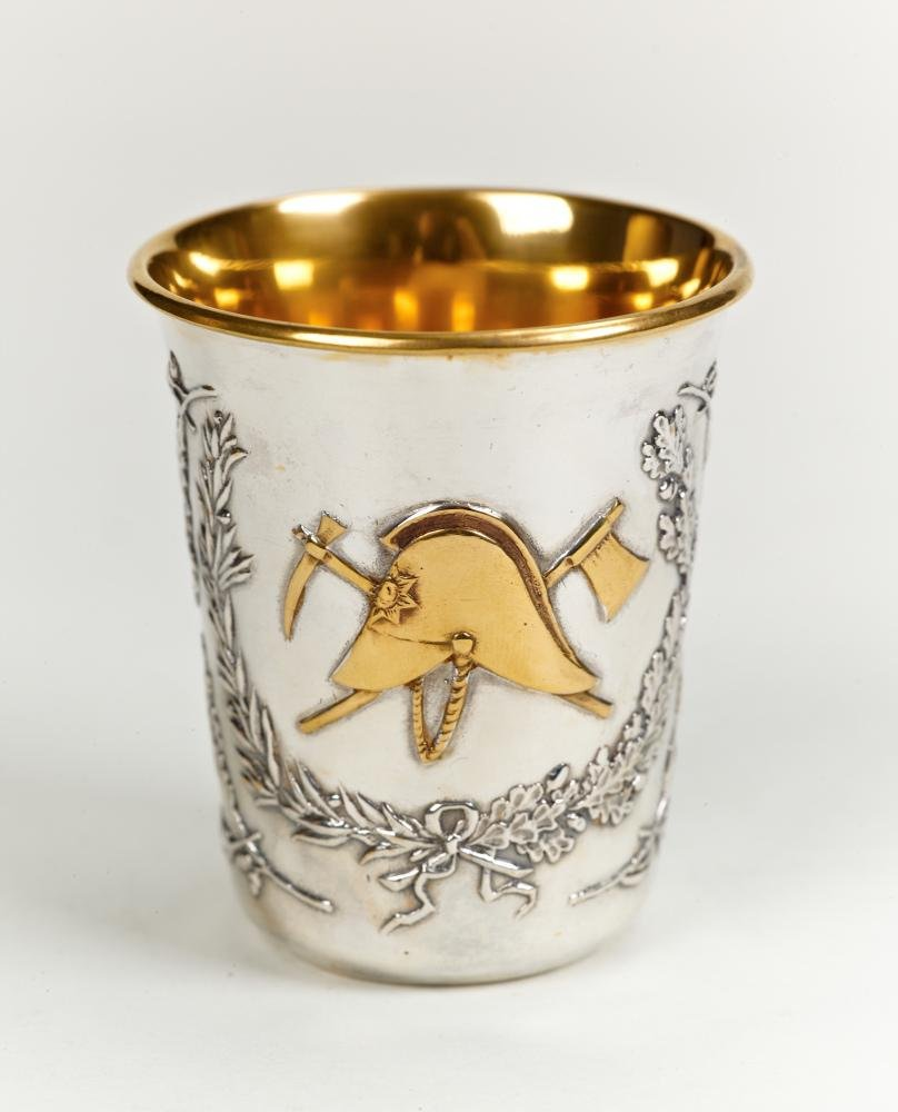 "Silver shot glass ""Fireman"""