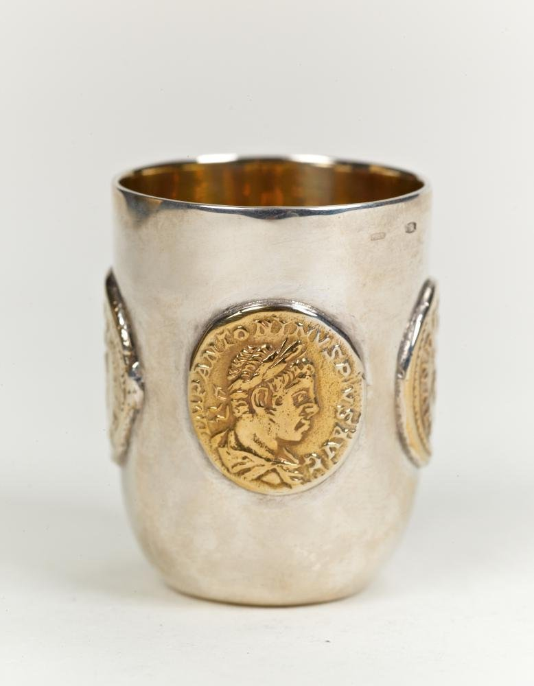 "Silver shot glass ""Antique"""