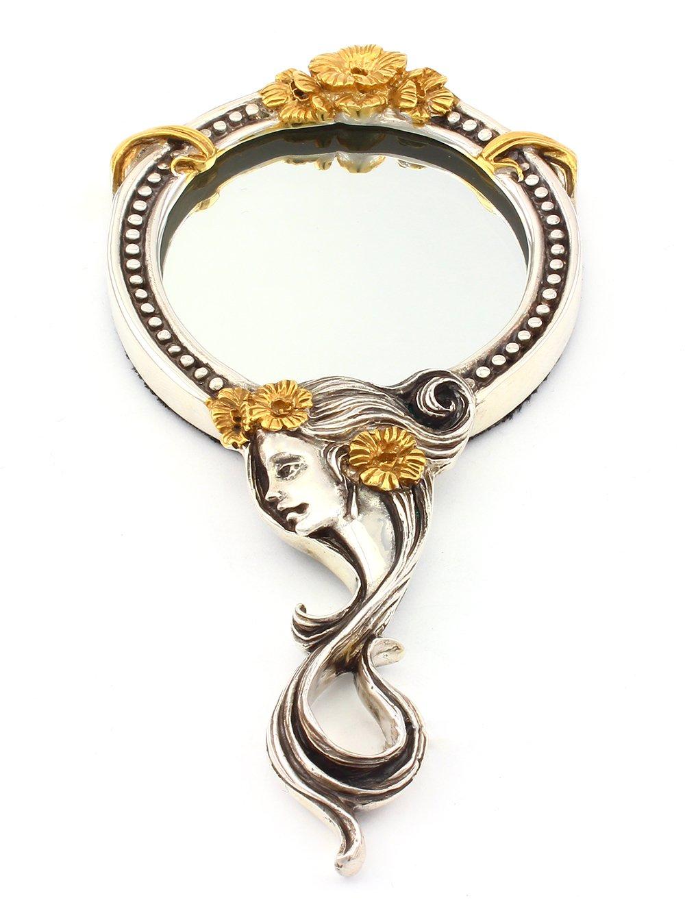 "Silver hand mirror ""Fairy"""