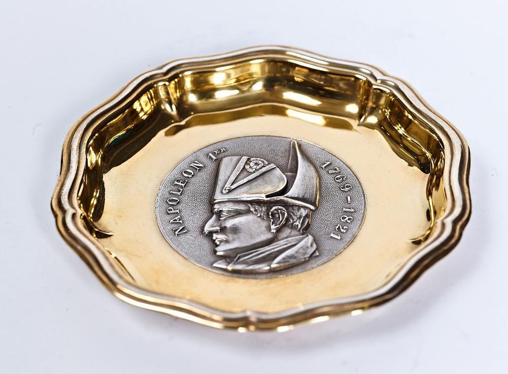 "Silver ashtray ""Napoleon"""