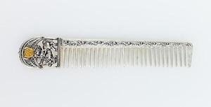 "Silver Hair comb with Signs of the Zodiac ""Sagittarius"""
