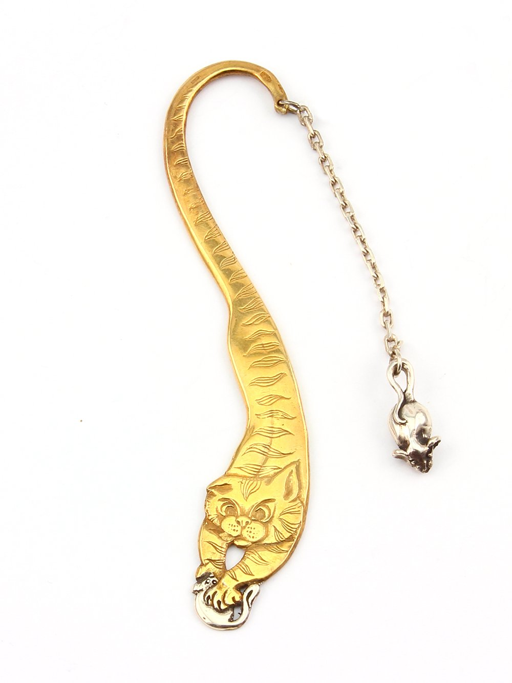"Silver bookmark ""Cat"""