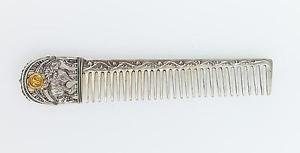 """Silver Hair comb with Signs of the Zodiac """"Aries"""""""