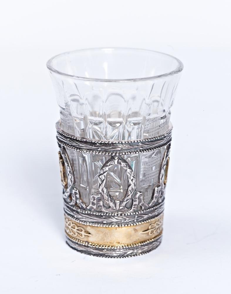 "Silver shot glass ""Gryphon"""