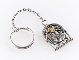 """Silver Key chain with Signs of the Zodiac """"Leo"""""""