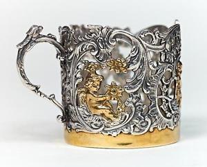 "Silver Glass-holder ""Amur"""