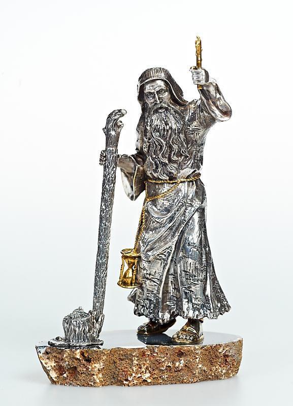 "Silver Pen holder ""The Monk"""