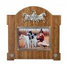 "Wooden photo frame ""Horses"""