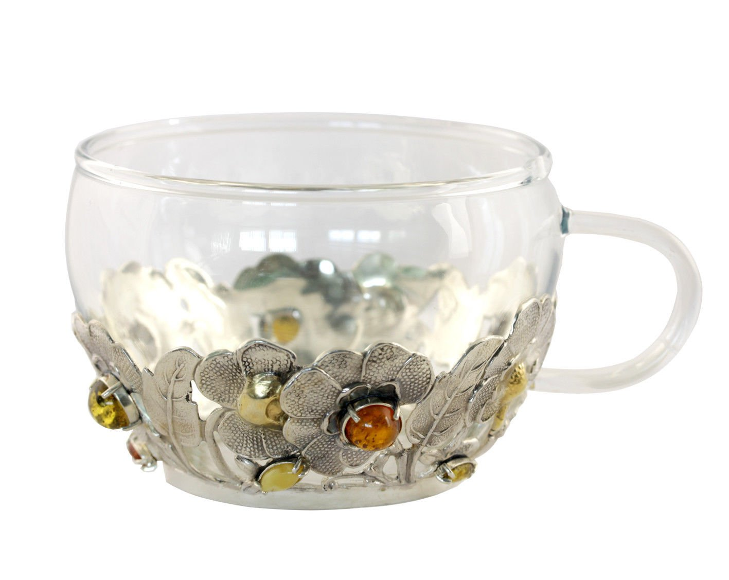 """Silver Cup """"Flowers"""""""