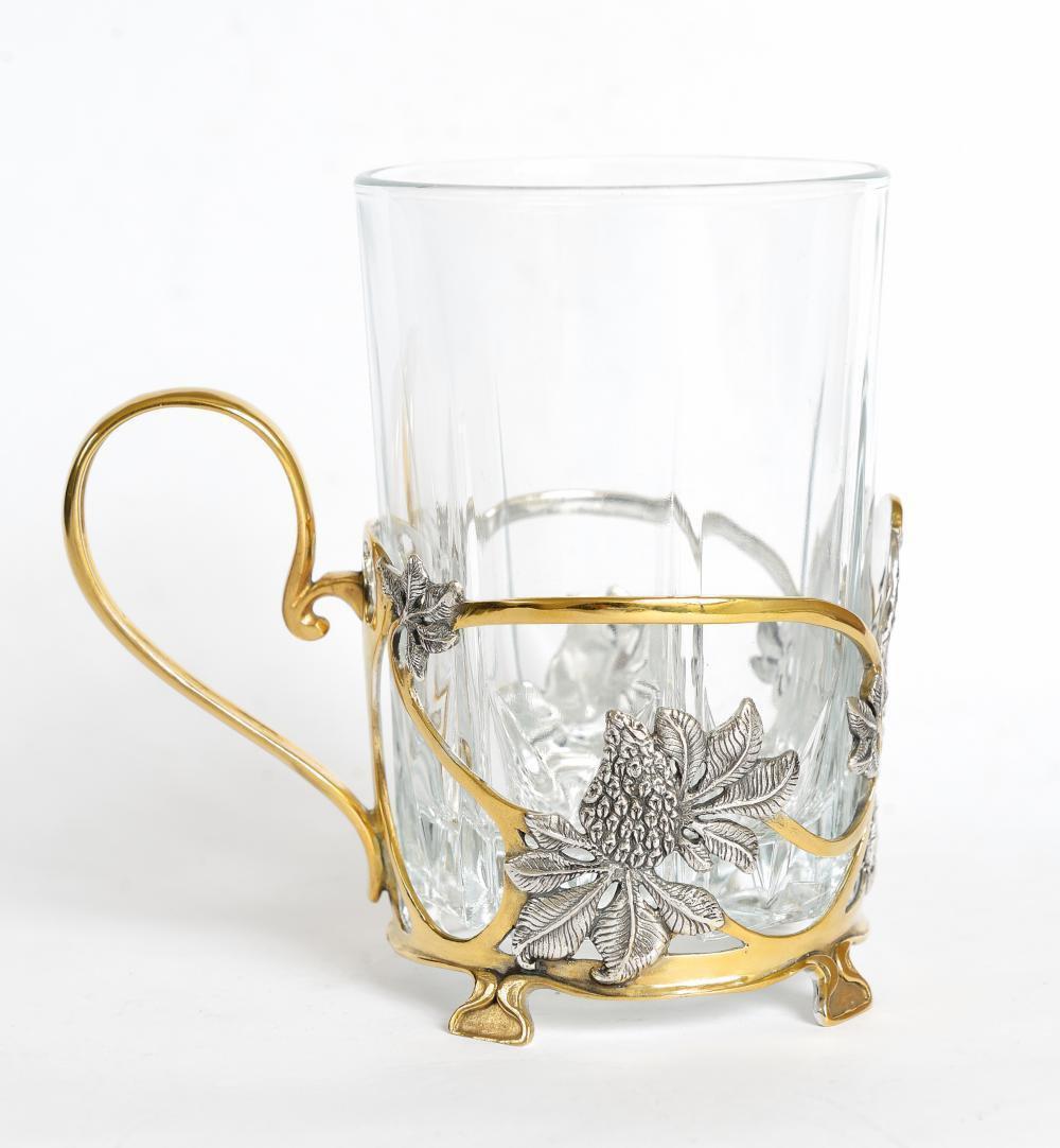 """Silver Tea Glass Cup Holder Podstakannik """"Kiev"""""""