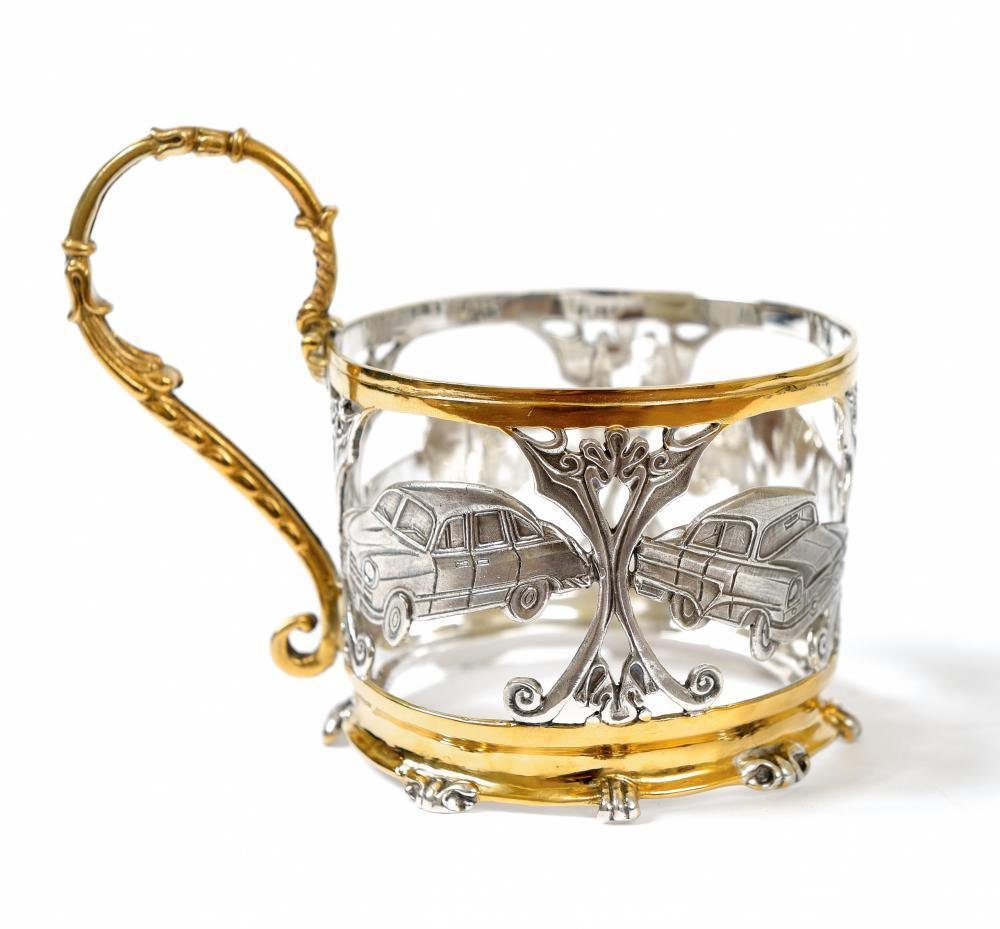 Silver Tea Glass Cup Holder Podstakannik 1644