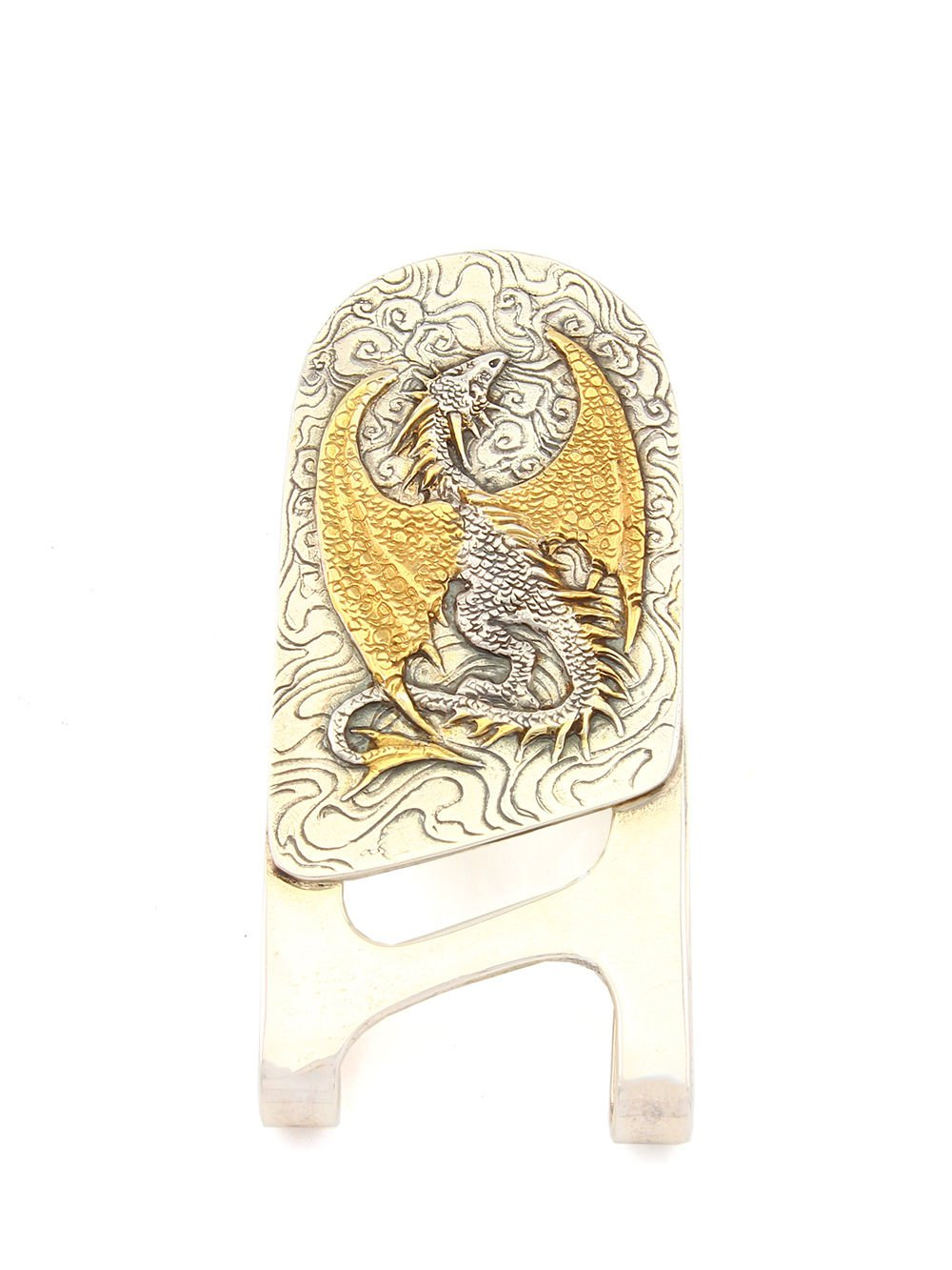 "Silver Banknote clip Money clip ""Dragon"""