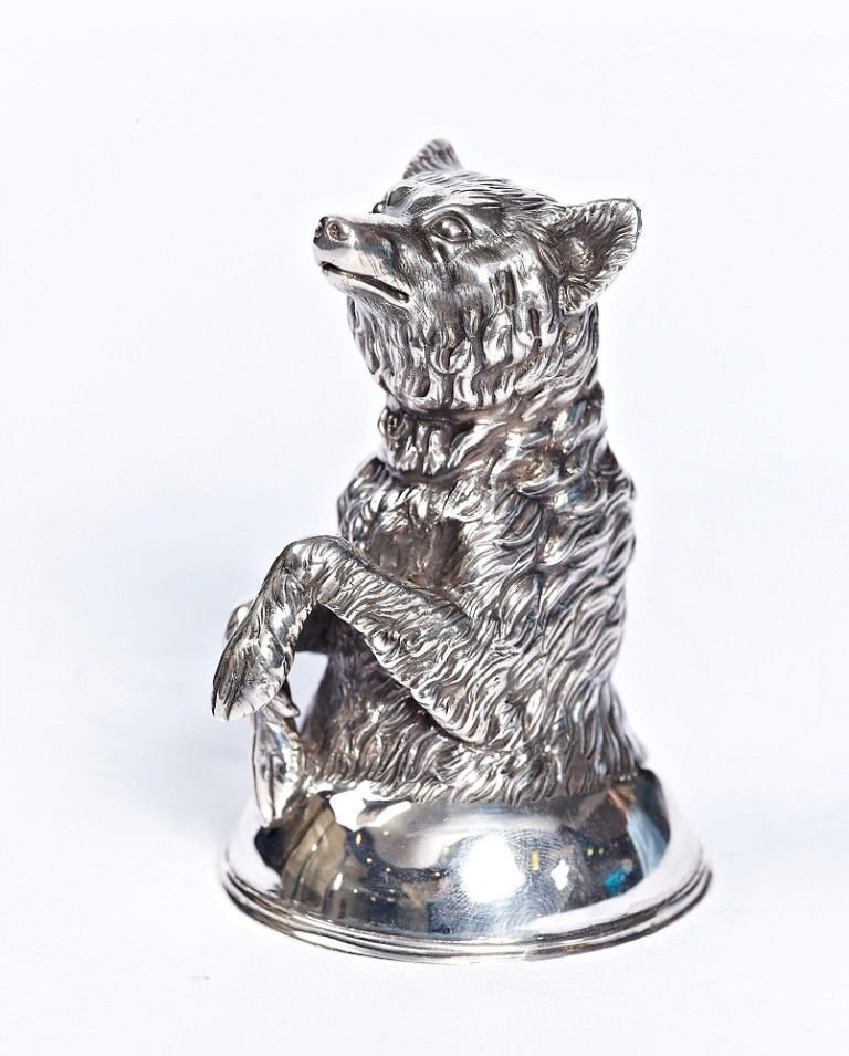 "Silver Shot glass ""Wolf"""