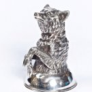 "Silver Shot glass ""Wolf"""