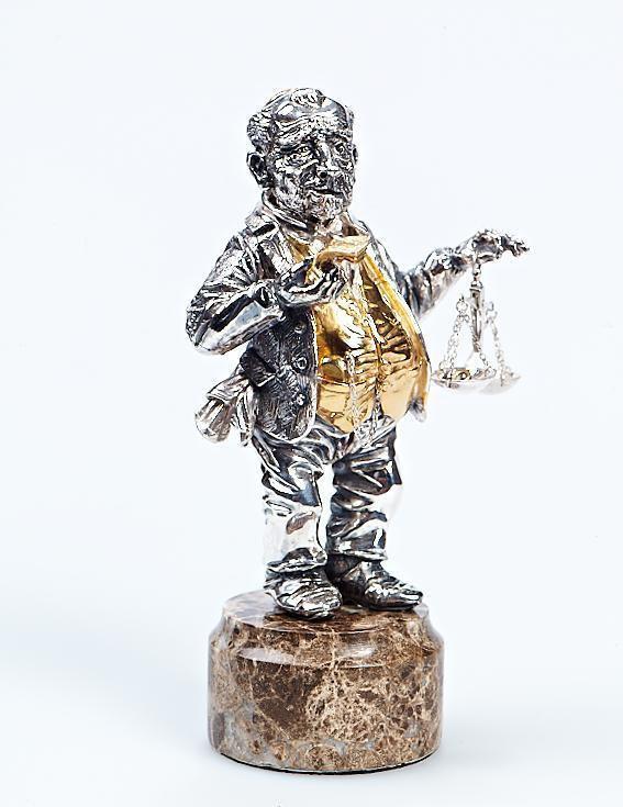 """Silver Figurine """"Jew Izya"""""""