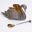 """Silver Big Pate bowl """"Swan"""""""