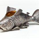 "Silver caviar plate bowl ""Trout"""