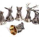 "A set of silver wine glasses ""Beasts"""