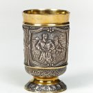 "Silver Shot glass ""Cossacks"""