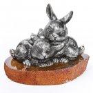 "Silver Figurine ""Hares"""