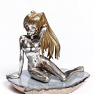 "Silver Figurine ""Girl with hair"""