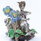 "Silver statue figurine ""Woman Snail"""