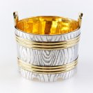 "Silver caviar plate bowl ""Tub"""