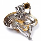 "Silver ashtray ""Girl playing tambourine"""