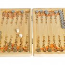 "Silver Backgammon game ""Tigers or Elephants"""