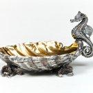 "Silver caviar plate bowl ""Seahorse"""