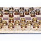 "Silver Board game checkers ""Gods against Titans"""