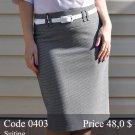 Summer midi pencil skirt