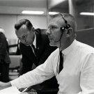 CHRIS KRAFT WITH GENE KRANZ DURING THE SCRUB OF GEMINI 9 - 8X10 PHOTO (AA-442)