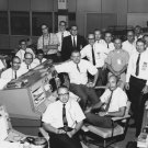 NASA FLIGHT DIRECTOR GENE KRANZ AND HIS WHITE TEAM - 8X10 PHOTO (AA-523)