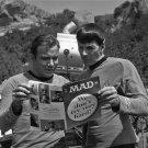 "WILLIAM SHATNER AND LEONARD NIMOY ENJOY ""MAD"" MAGAZINE - 8X10 PHOTO (ZZ-136)"