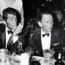 DEAN MARTIN AND FRANK SINATRA AT DINNER IN 1960s RAT PACK - 8X10 PHOTO (AA-227)