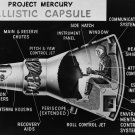 PROJECT MERCURY CAPSULE CUTAWAY DRAWING - 8X10 NASA PHOTO (AA-243)