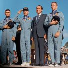 PRES. RICHARD NIXON WITH APOLLO 13 CREW AFTER FLIGHT - 8X10 NASA PHOTO (AA-014)