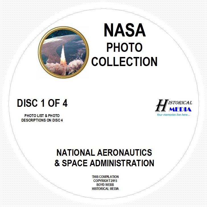 NASA PHOTO COLLECTION - 2,073 PHOTOS ON 4 CDs IN .JPG FORMAT - MOST IMAGES > 1MB