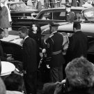 JACKIE & BOBBY KENNEDY ENTER LIMO AT JFK STATE FUNERAL 8X10 PHOTO (EP-934)