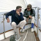 PRESIDENT JOHN F. KENNEDY SAILS WITH PETER LAWFORD - 8X10 PHOTO (ZZ-058)