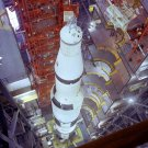 OVERHEAD VIEW SATURN V ROCKET IN VEHICLE ASSEMBLY BUILDING - 8X10 PHOTO (EP-421)