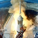 LIFT-OFF LAUNCH OF APOLLO 11 SATURN 5 V JULY 16, 1969 - 8X10 NASA PHOTO (EP-703)