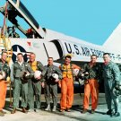 MERCURY 7 ASTRONAUTS STAND NEAR F-106B AIRCRAFT - 8X10 NASA PHOTO (EP-004)