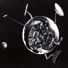 EARLY SPACE STATION CONCEPT DRAWING FROM 1958 - 8X10 NASA PHOTO (BB-064)