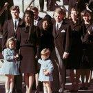 JACKIE KENNEDY & CHILDREN JOHN JR & CAROLINE AFTER FUNERAL - 8X10 PHOTO (BB-602)