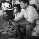 JACQUELINE BOUVIER WITH FIANCÉ SENATOR JOHN F. KENNEDY - 8X10 PHOTO (AA-749)